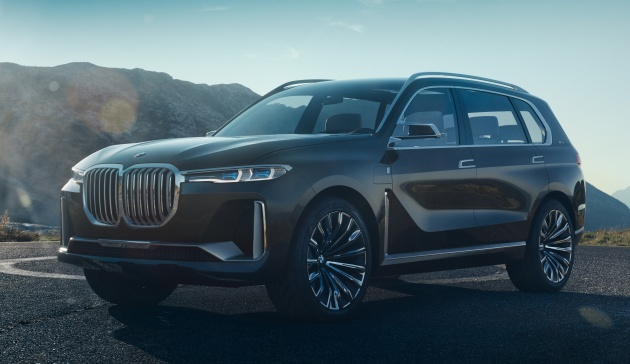 bmw concept x7 iperformance previews flagship suv production plug in hybrid x7 to debut in 2018. Black Bedroom Furniture Sets. Home Design Ideas