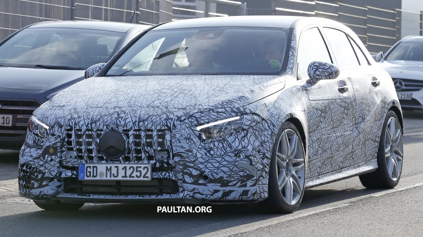SPIED: 2018 Mercedes-AMG A45 looks ready to rumble Image #714043