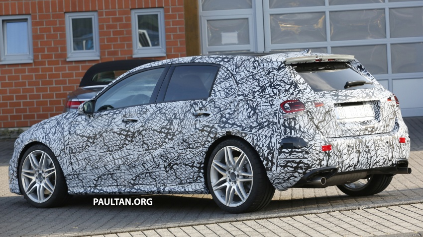 SPIED: 2018 Mercedes-AMG A45 looks ready to rumble Image #714051