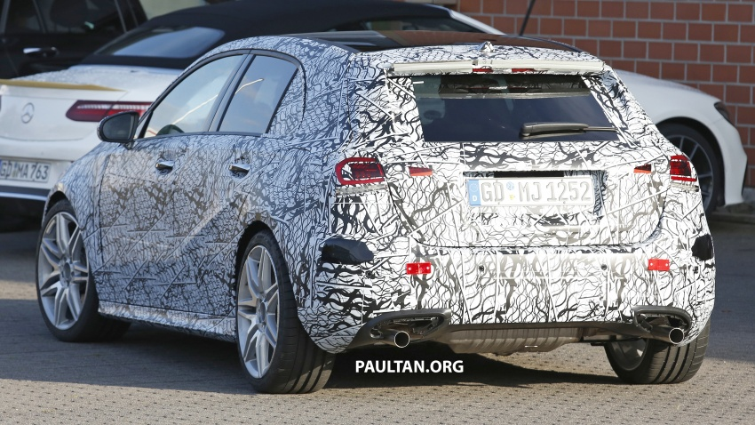 SPIED: 2018 Mercedes-AMG A45 looks ready to rumble Image #714056
