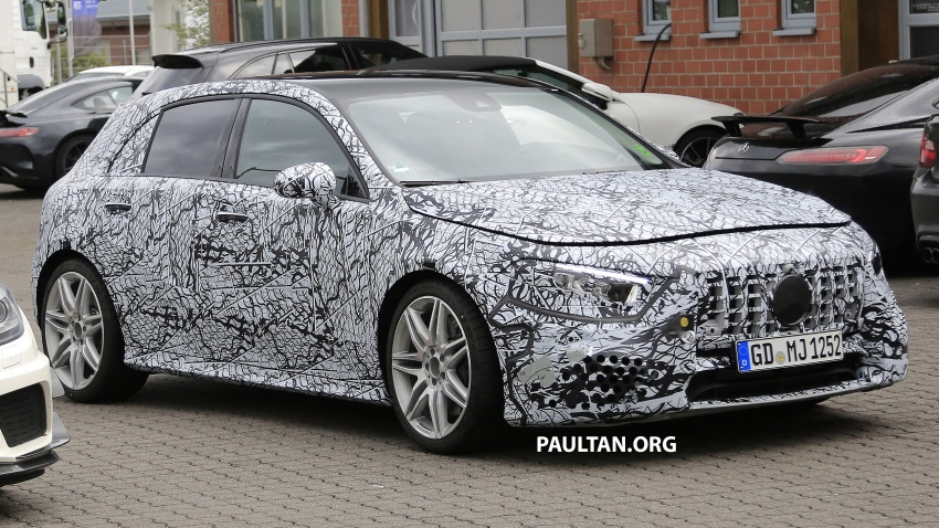SPIED: 2018 Mercedes-AMG A45 looks ready to rumble Image #714057