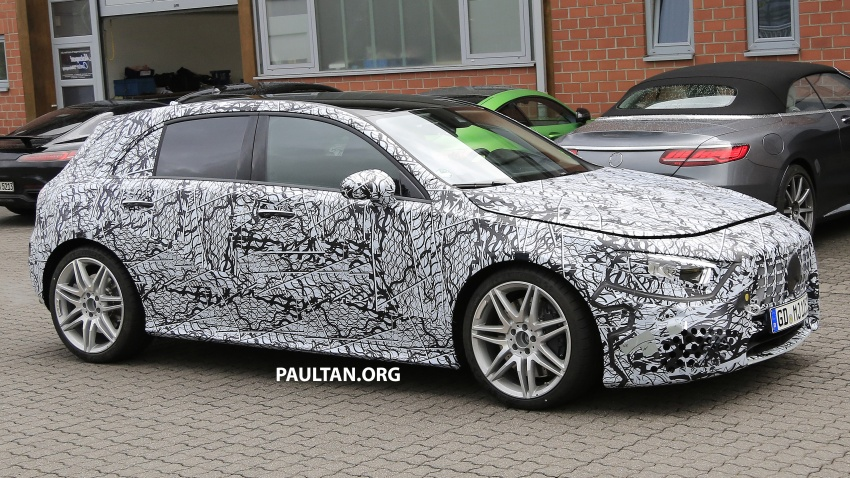 SPIED: 2018 Mercedes-AMG A45 looks ready to rumble Image #714060