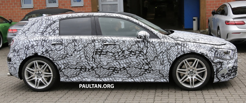 SPIED: 2018 Mercedes-AMG A45 looks ready to rumble Image #714061