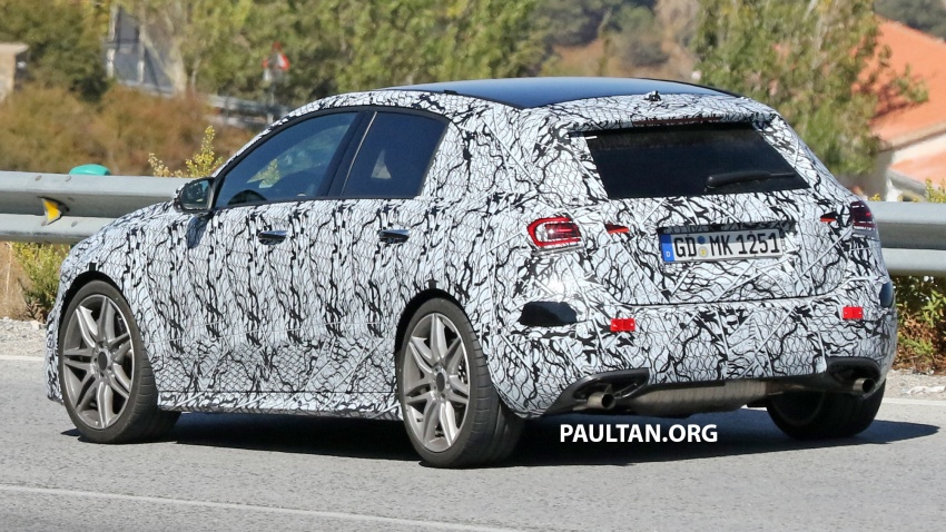 SPIED: 2018 Mercedes-AMG A45 looks ready to rumble Image #713730