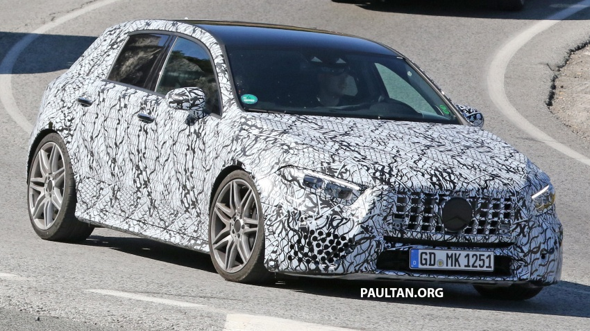 SPIED: 2018 Mercedes-AMG A45 looks ready to rumble Image #713723