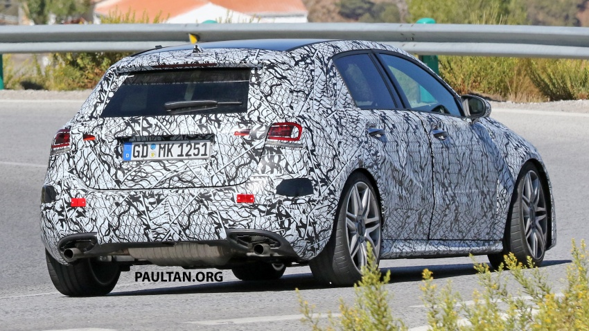 SPIED: 2018 Mercedes-AMG A45 looks ready to rumble Image #713729