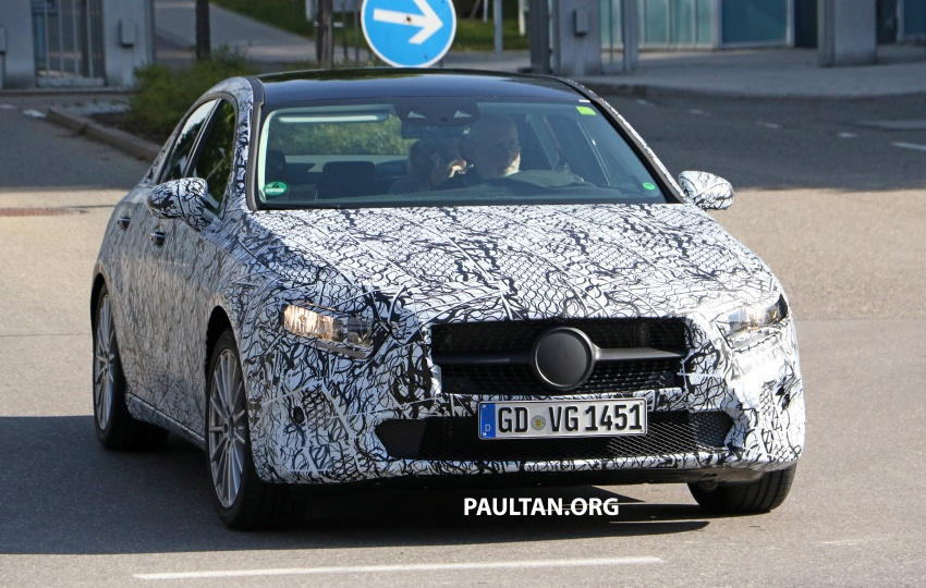 SPIED: Mercedes-Benz A-Class sedan spotted testing Image #706192