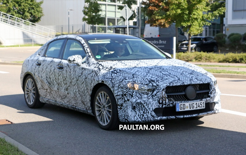 SPIED: Mercedes-Benz A-Class sedan spotted testing Image #706200
