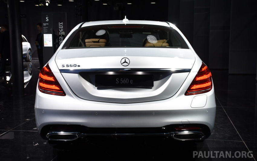 Mercedes-Benz S560e debuts in Frankfurt – up to 50 km of electric driving range, 0-100 km/h in 5 seconds Image #709743
