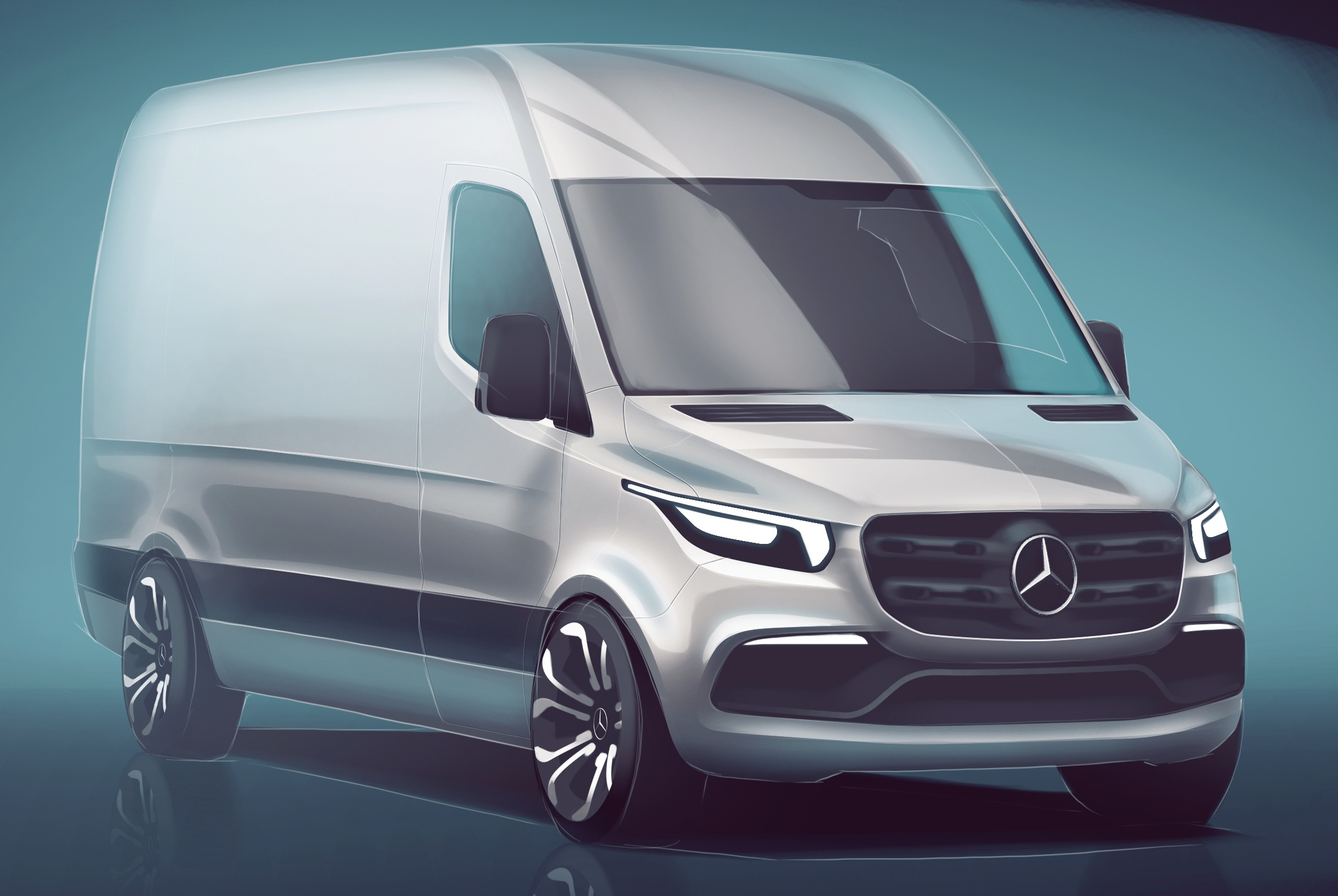 new mercedes-benz sprinter van teased – 2018 debut