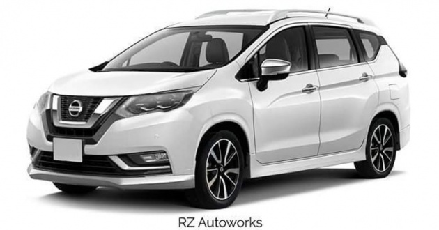 Mitsubishi Xpander rendered with Nissan X-Trail bits