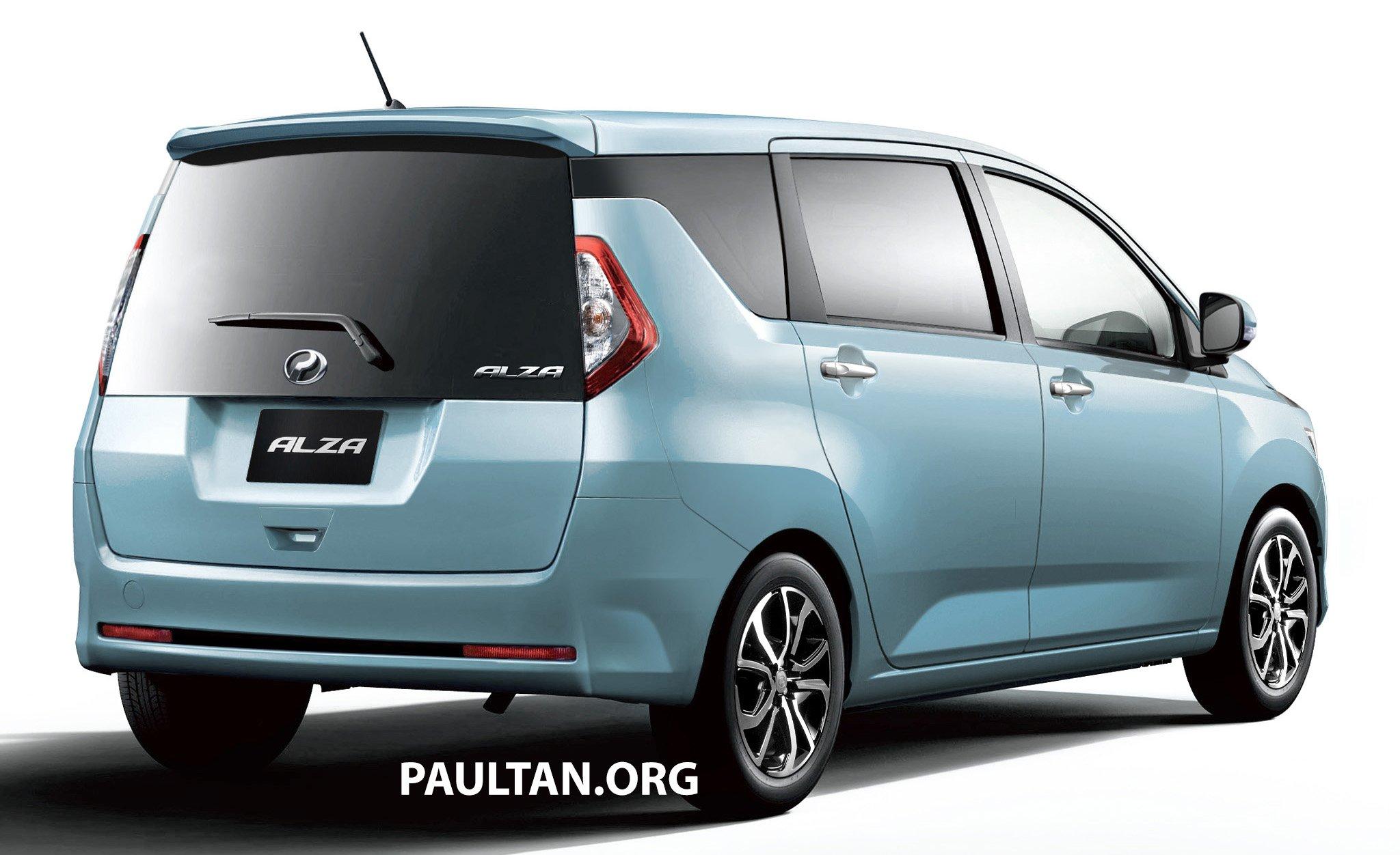 New Perodua Alza Rendered On Daihatsu Mira E S Body Image