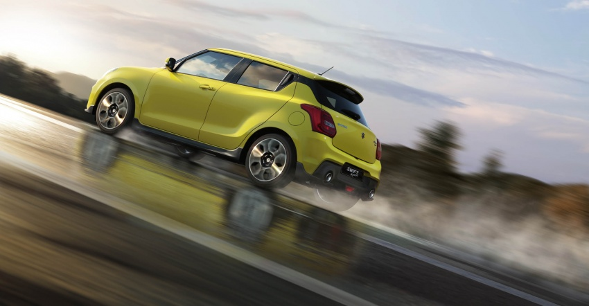 New Suzuki Swift Sport officially revealed in Frankfurt – 1.4L turbo engine, six-speed manual, only 970 kg Image #710005