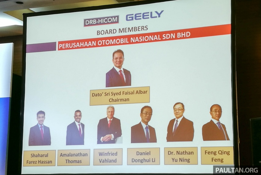 DRB-Hicom, Geely announce new Proton board – Li Chunrong is CEO, Winfried Vahland joins board Image #716924