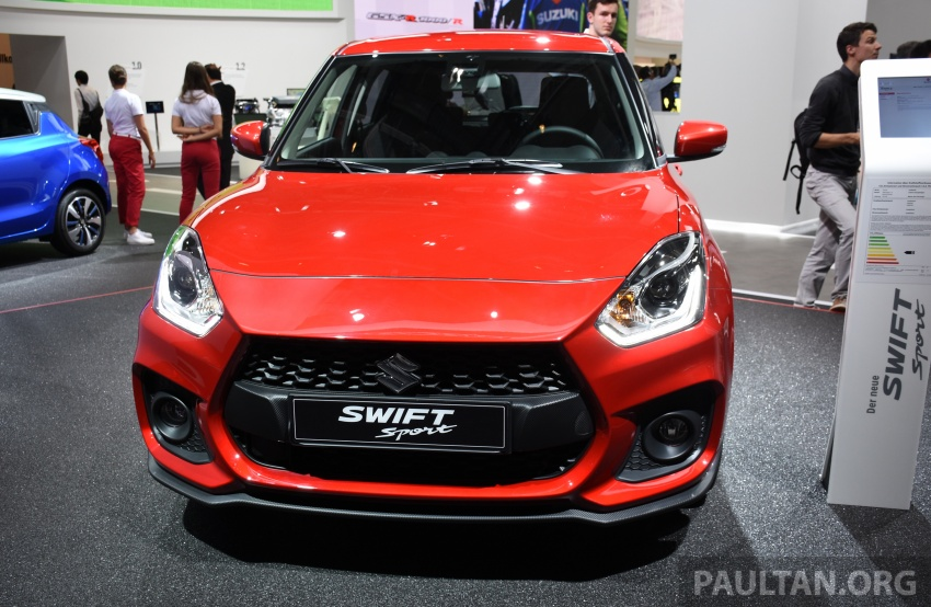 New Suzuki Swift Sport officially revealed in Frankfurt – 1.4L turbo engine, six-speed manual, only 970 kg Image #709890