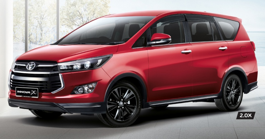 Toyota Innova 2.0X gets captain seats, LED headlights; 7 airbags standard across updated range, fr RM108k Image #711685