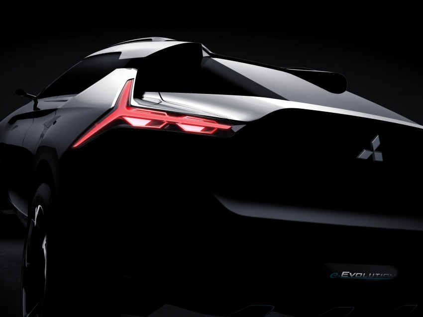 Mitsubishi e-Evolution Concept teased ahead of Tokyo debut – nameplate returns on performance hybrid SUV Image #713552