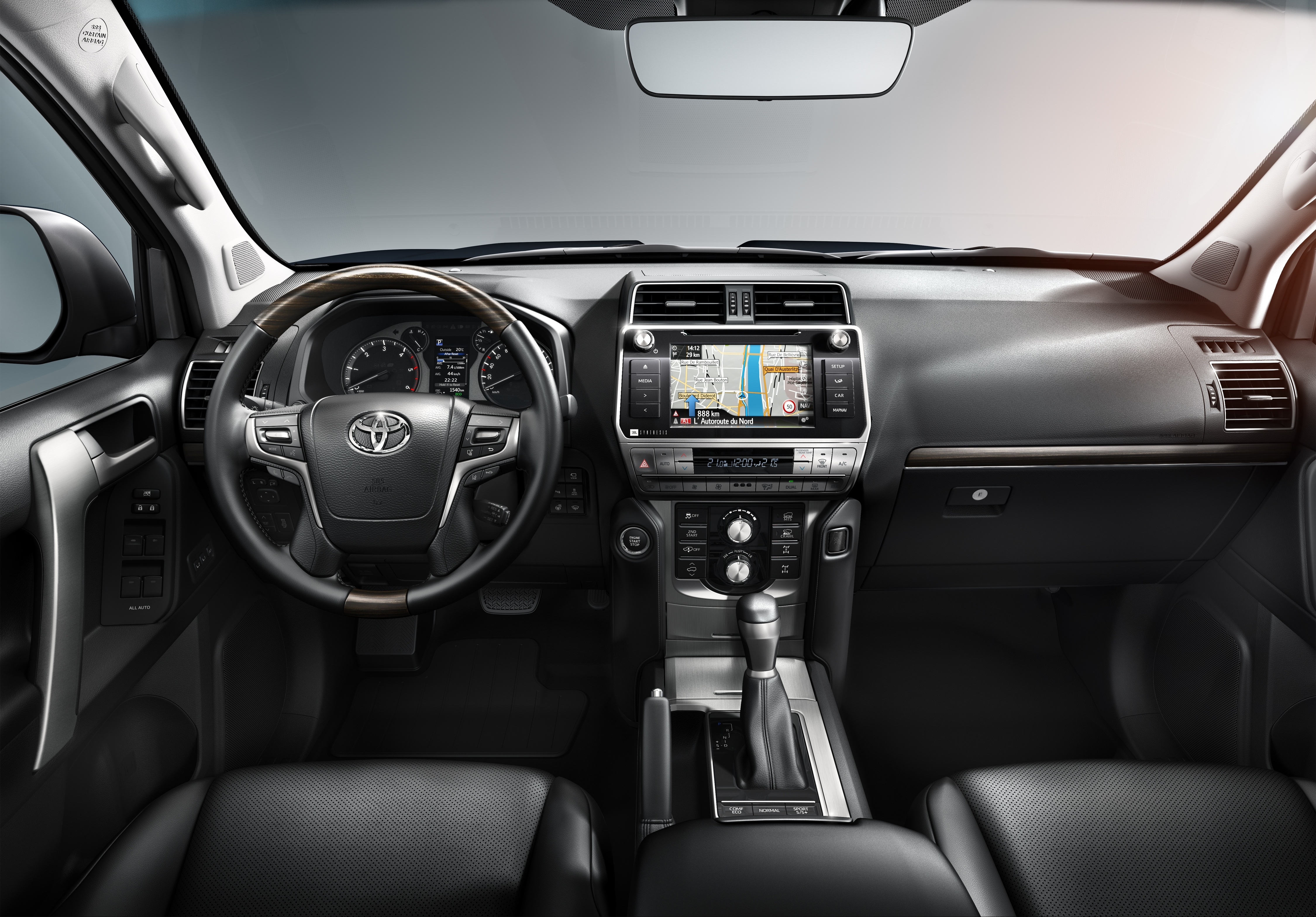 2018 toyota land cruiser interior. beautiful land inside the land cruiser gains a redesigned dashboard especially at top  of centre console tower where it has been lowered to improve forward  for 2018 toyota land cruiser interior