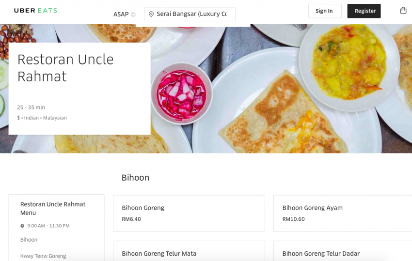 UberEATS food delivery service now in Kuala Lumpur Image #713953