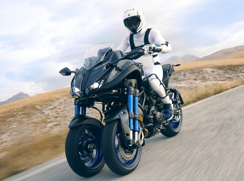 Yamaha Niken Leaning Multi-Wheeler (LMW) 2018 – guna tiga roda, tetapan fork berkembar di hadapan Image #728737