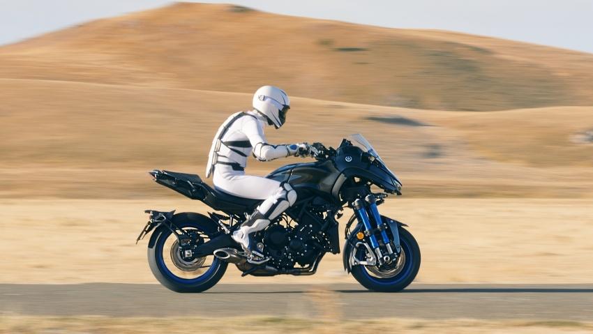 Yamaha Niken Leaning Multi-Wheeler (LMW) 2018 – guna tiga roda, tetapan fork berkembar di hadapan Image #728746