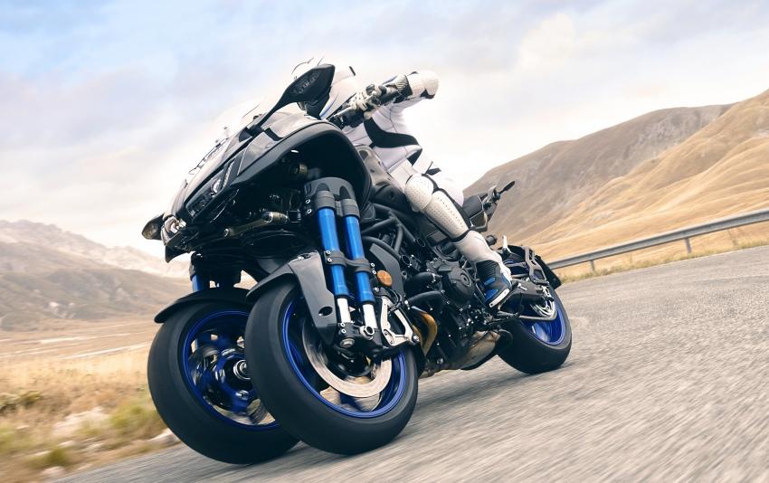 Yamaha Niken Leaning Multi-Wheeler (LMW) 2018 – guna tiga roda, tetapan fork berkembar di hadapan Image #728740