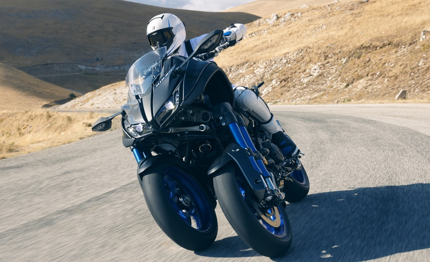 Yamaha Niken Leaning Multi-Wheeler (LMW) 2018 – guna tiga roda, tetapan fork berkembar di hadapan Image #728741