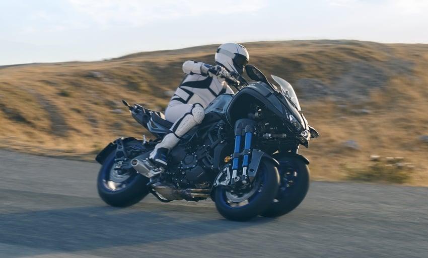 Yamaha Niken Leaning Multi-Wheeler (LMW) 2018 – guna tiga roda, tetapan fork berkembar di hadapan Image #728744