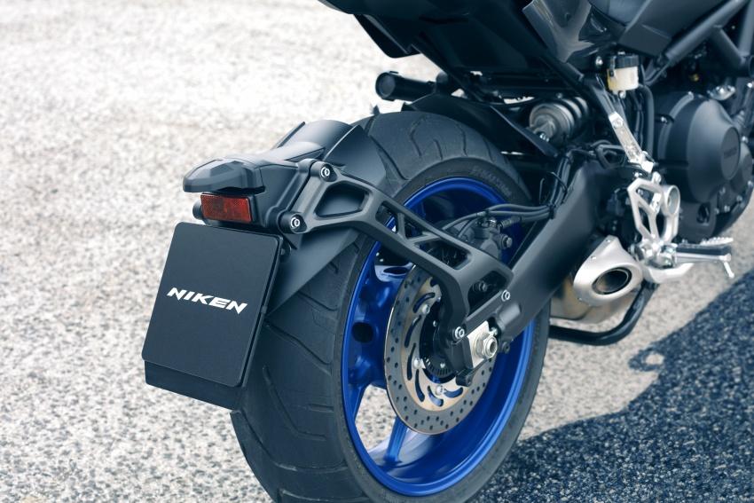 Yamaha Niken Leaning Multi-Wheeler (LMW) 2018 – guna tiga roda, tetapan fork berkembar di hadapan Image #728747