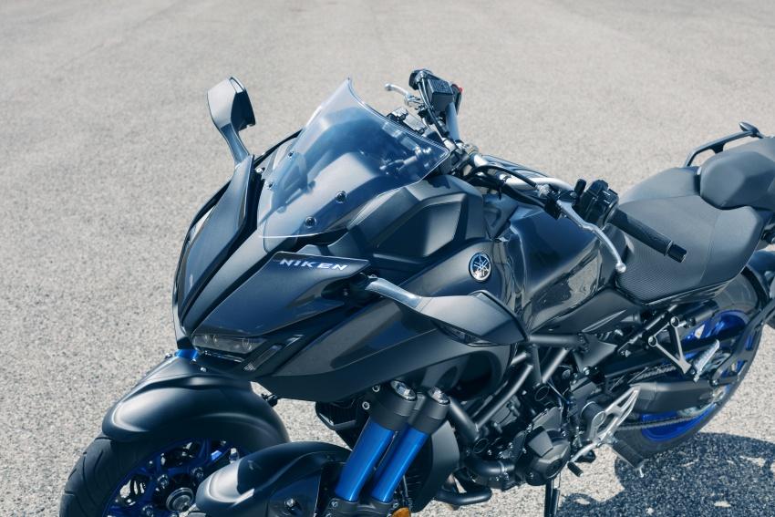 Yamaha Niken Leaning Multi-Wheeler (LMW) 2018 – guna tiga roda, tetapan fork berkembar di hadapan Image #728754