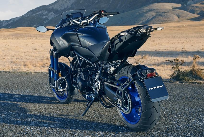 Yamaha Niken Leaning Multi-Wheeler (LMW) 2018 – guna tiga roda, tetapan fork berkembar di hadapan Image #728772