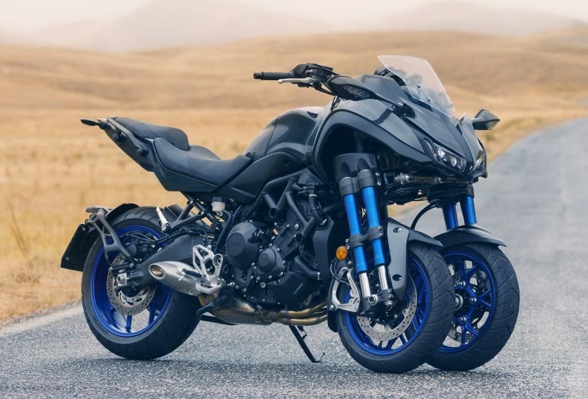 Yamaha Niken Leaning Multi-Wheeler (LMW) 2018 – guna tiga roda, tetapan fork berkembar di hadapan Image #728765