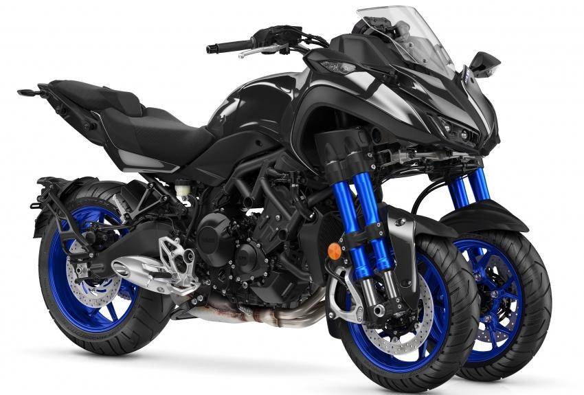 Yamaha Niken Leaning Multi-Wheeler (LMW) 2018 – guna tiga roda, tetapan fork berkembar di hadapan Image #728774