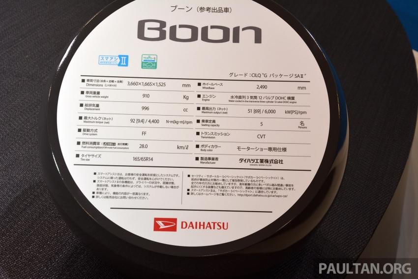 Tokyo 2017: Daihatsu Boon – 'JDM Myvi' on display Image #730641