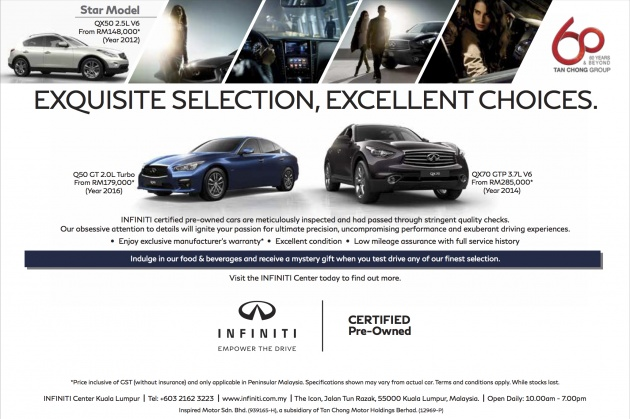Infiniti Certified Pre Owned >> Ad Infiniti Certified Pre Owned Deals From Rm179k