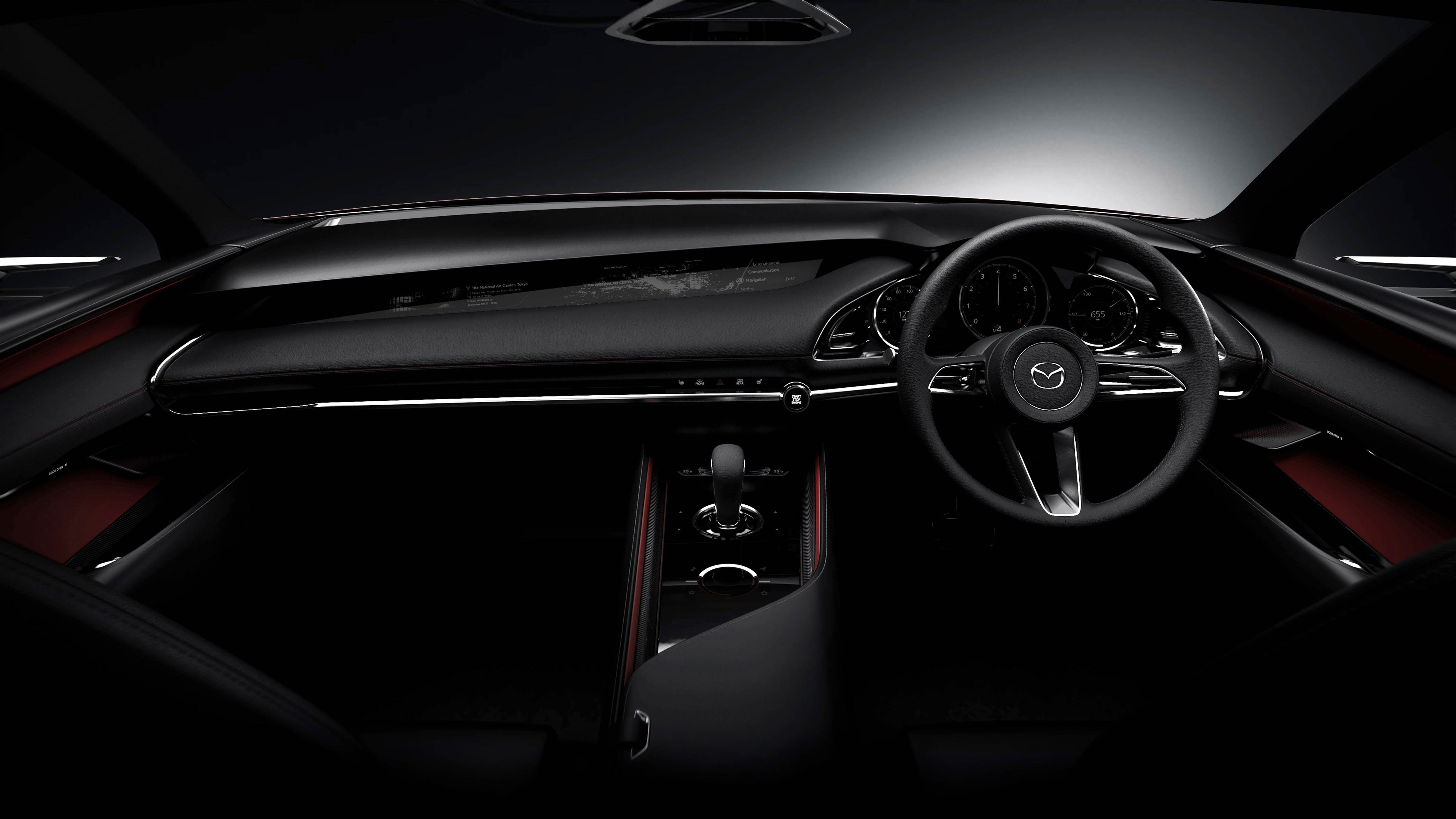 This together with the one on the spoiler function as additional brake lights. & Tokyo 2017: Mazda Kai Concept u2013 SkyActiv-Vehicle Architecture ... azcodes.com