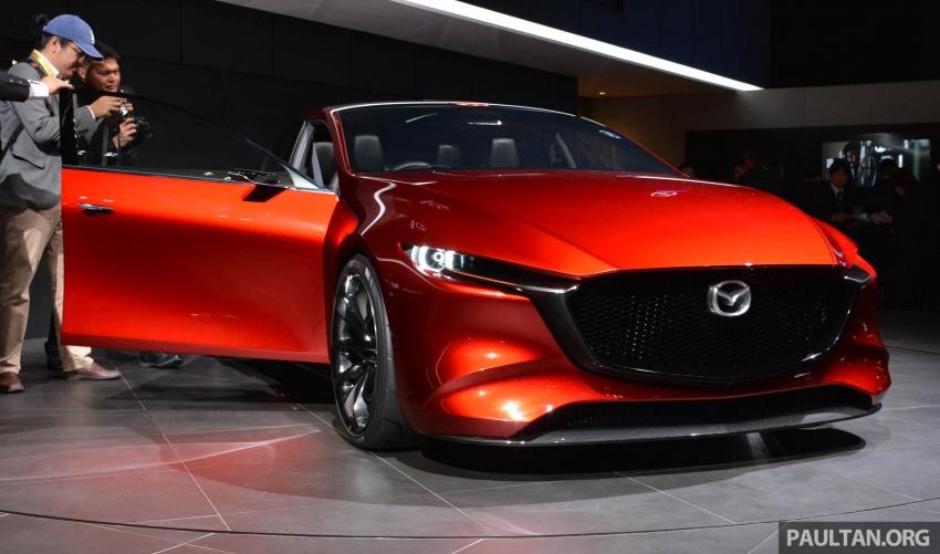 Tokyo 2017: Mazda Kai Concept – SkyActiv-Vehicle Architecture, SkyActiv-X engine; next-gen Mazda 3? Image #728278