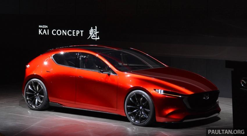 Tokyo 2017: Mazda Kai Concept – SkyActiv-Vehicle Architecture, SkyActiv-X engine; next-gen Mazda 3? Image #728295