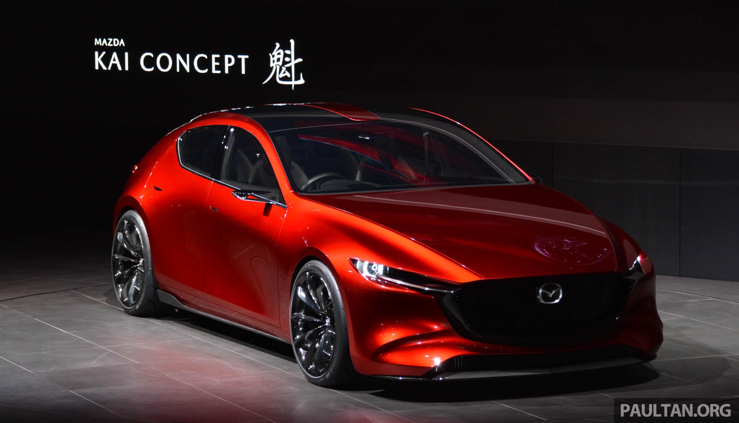 2017 Mazda 3 Engine >> Tokyo 2017: Mazda Kai Concept – SkyActiv-Vehicle Architecture, SkyActiv-X engine; next-gen Mazda ...