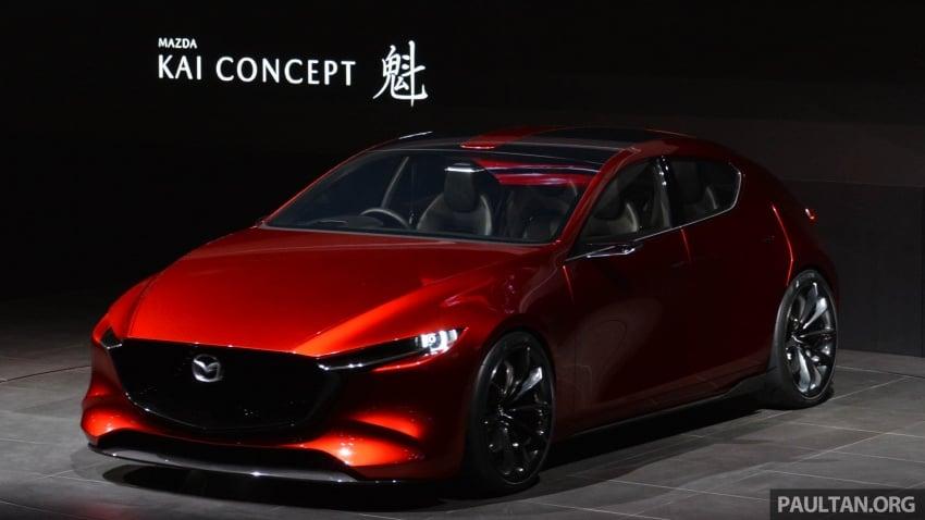 Tokyo 2017: Mazda Kai Concept – SkyActiv-Vehicle Architecture, SkyActiv-X engine; next-gen Mazda 3? Image #728297