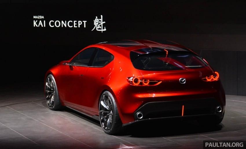 Tokyo 2017: Mazda Kai Concept – SkyActiv-Vehicle Architecture, SkyActiv-X engine; next-gen Mazda 3? Image #728298