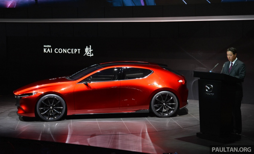 Tokyo 2017: Mazda Kai Concept – SkyActiv-Vehicle Architecture, SkyActiv-X engine; next-gen Mazda 3? Image #728299