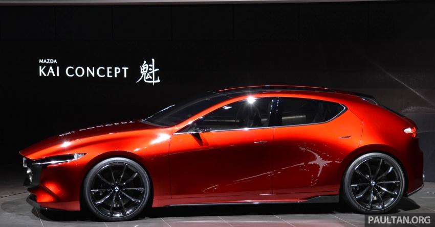 Tokyo 2017: Mazda Kai Concept – SkyActiv-Vehicle Architecture, SkyActiv-X engine; next-gen Mazda 3? Image #728300