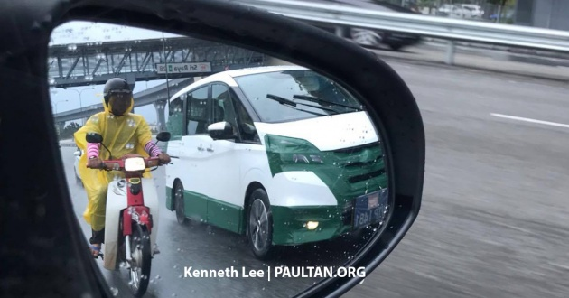 Spied 2018 Nissan Serena Seen Testing In Malaysia