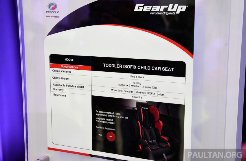 Perodua launches five-year road safety campaign, introduces Gear Up child seats from just RM660 Image #730076