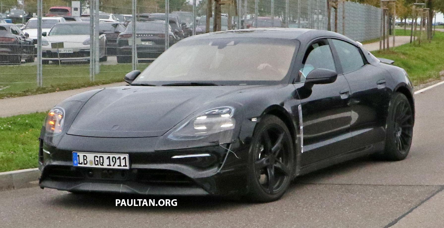 Spyshots Porsche Mission E Spotted Road Testing