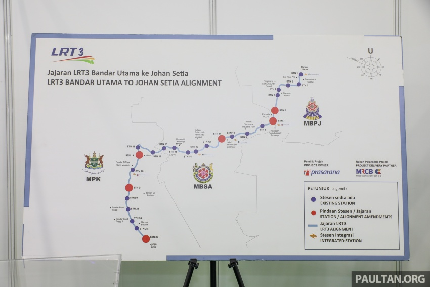 LRT3 alignment from Bandar Utama to Klang shown Image #722475