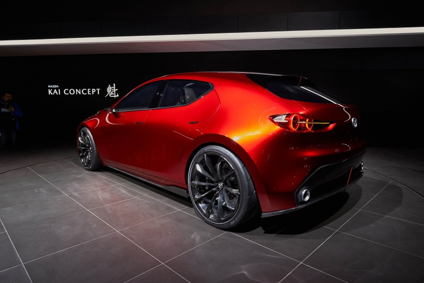 Tokyo 2017: Mazda Kai Concept – SkyActiv-Vehicle Architecture, SkyActiv-X engine; next-gen Mazda 3? Image #729316