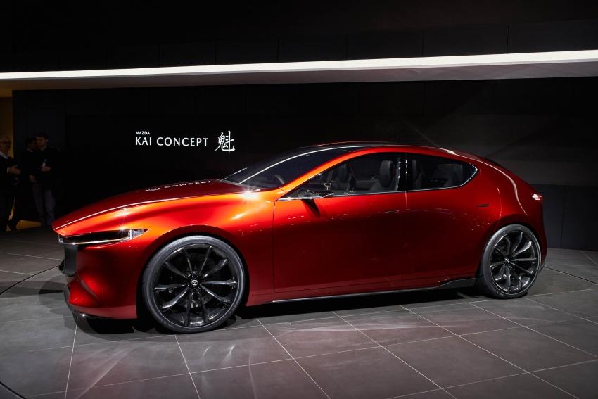 Tokyo 2017: Mazda Kai Concept – SkyActiv-Vehicle Architecture, SkyActiv-X engine; next-gen Mazda 3? Image #729323