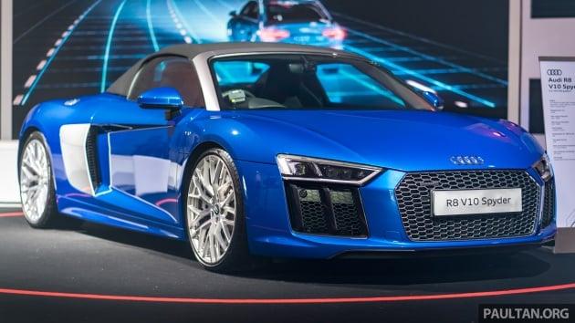 Audi R V Spyder Previewed Msian Launch Soon - Audi r8 v10 spyder